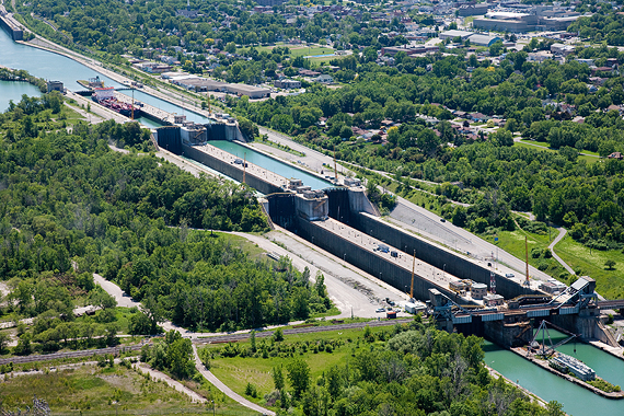 St. Lawrence Seaway - Welland Canal Locks 4, 5 and 6