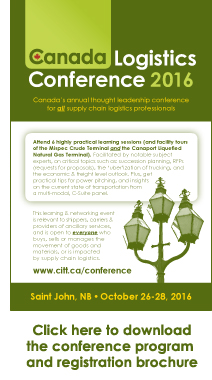 Click here to download the Canada Logistics Conference 2016 program and registration brochure
