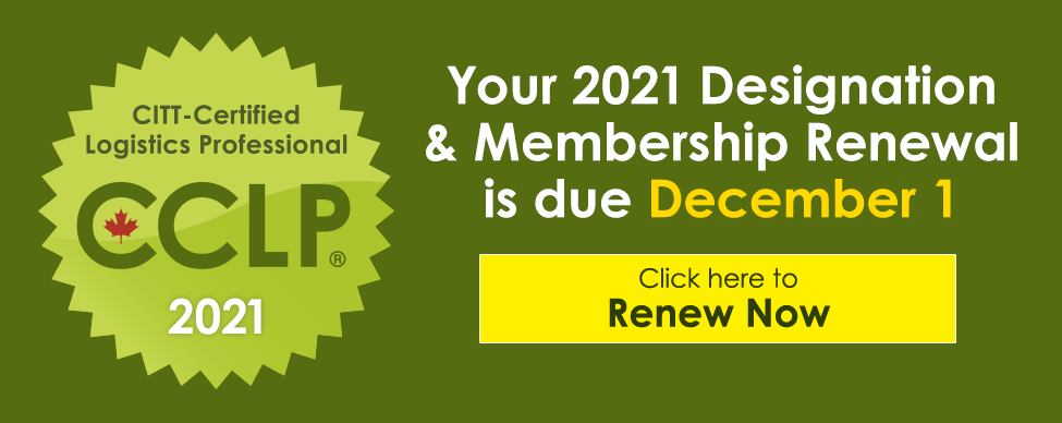 Click here to renew your CCLP Designation and CITT Membership for 2021 now!