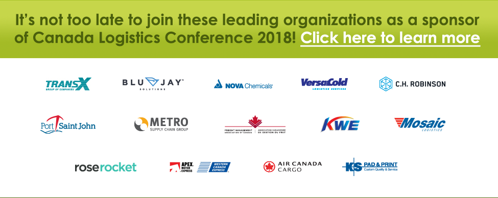 Click here to learn more about sponsoring Canada Logistics Conference 2018