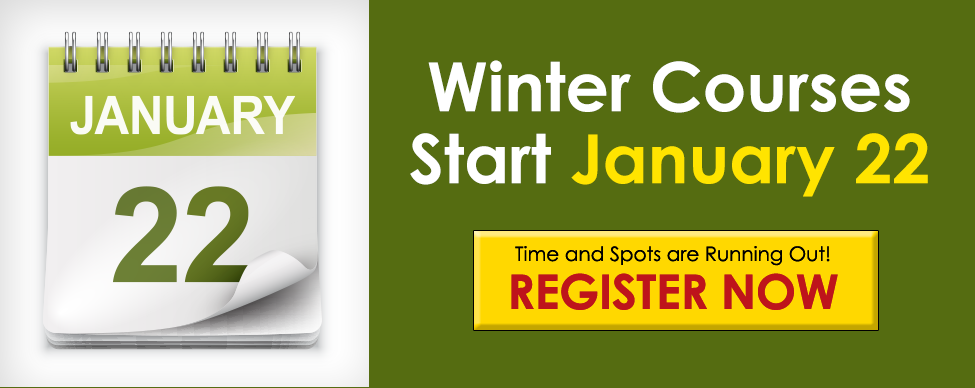 Click here to register now to take a course this winter