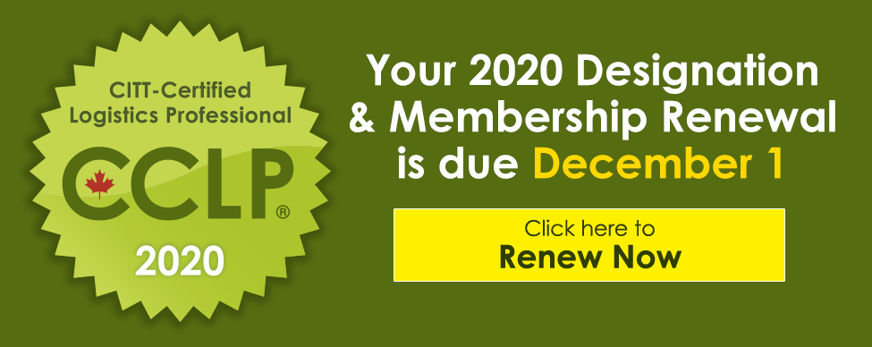 Click here to renew your CCLP Designation and CITT Membership for 2020 now!